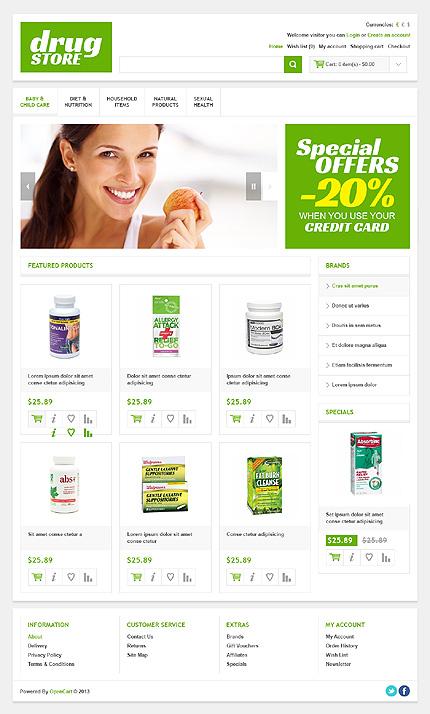ADOBE Photoshop Template 45025 Home Page Screenshot