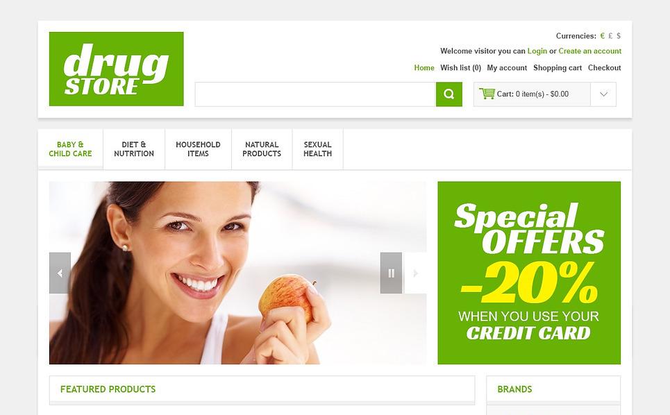OpenCart Vorlage für Drogerie  New Screenshots BIG