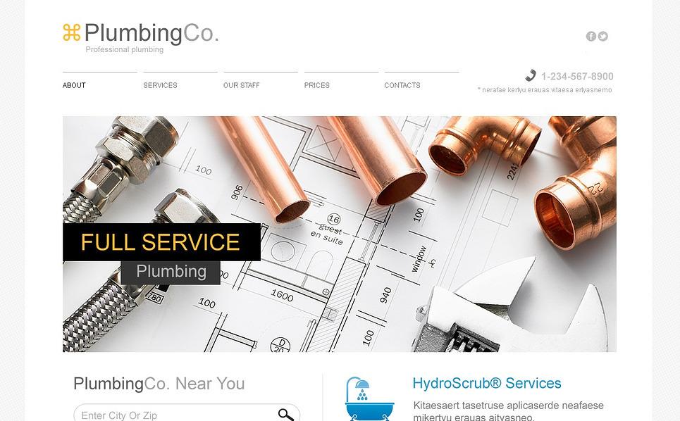 Template Web Flexível para Sites de Encanamento №45031 New Screenshots BIG