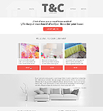 Furniture Website  Template 45043