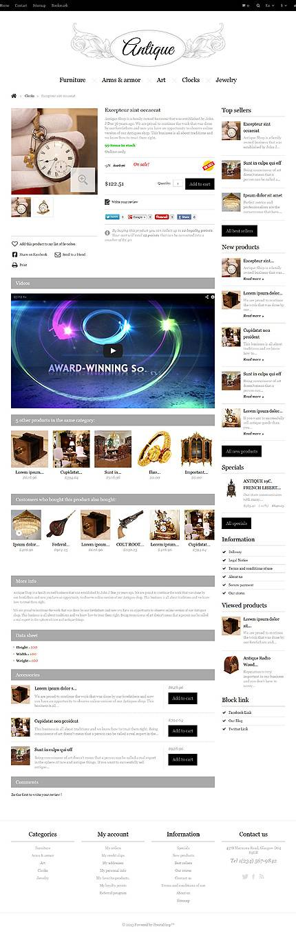 ADOBE Photoshop Template 45063 Home Page Screenshot
