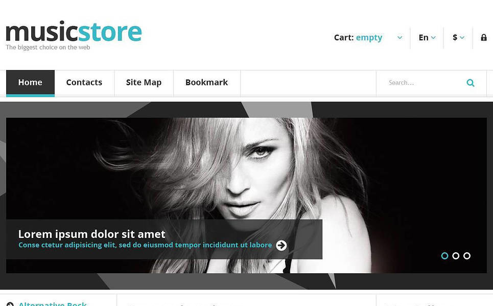 Reszponzív Zenebolt PrestaShop sablon New Screenshots BIG