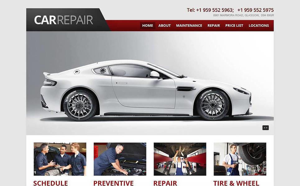 Responsive Araba Tamiri  Web Sitesi Şablonu New Screenshots BIG