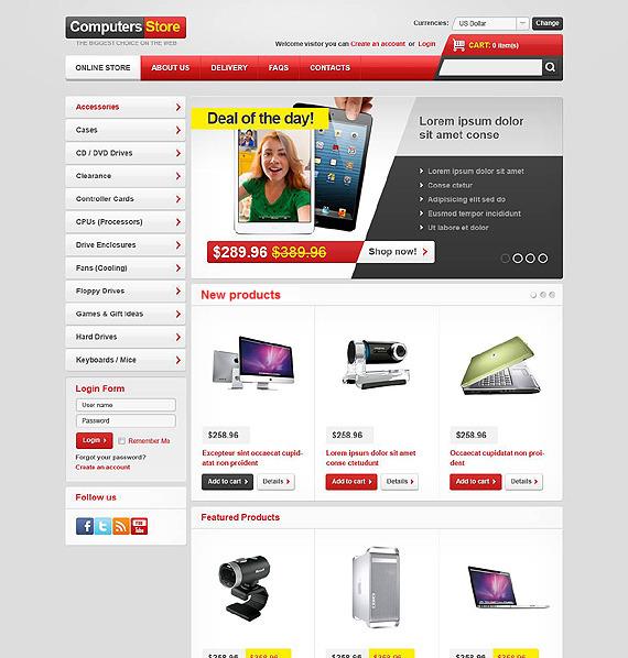VirtueMart шаблон на тему комп'ютери New Screenshots BIG