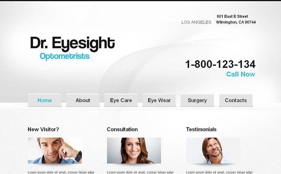 Premium Moto CMS HTML Template over Optometrist New Screenshots BIG