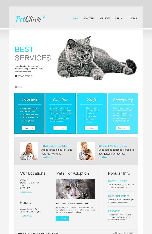 Veterinary Medicine Website Template with jQuery Slider - image