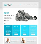 Animals & Pets Moto CMS HTML  Template 45099