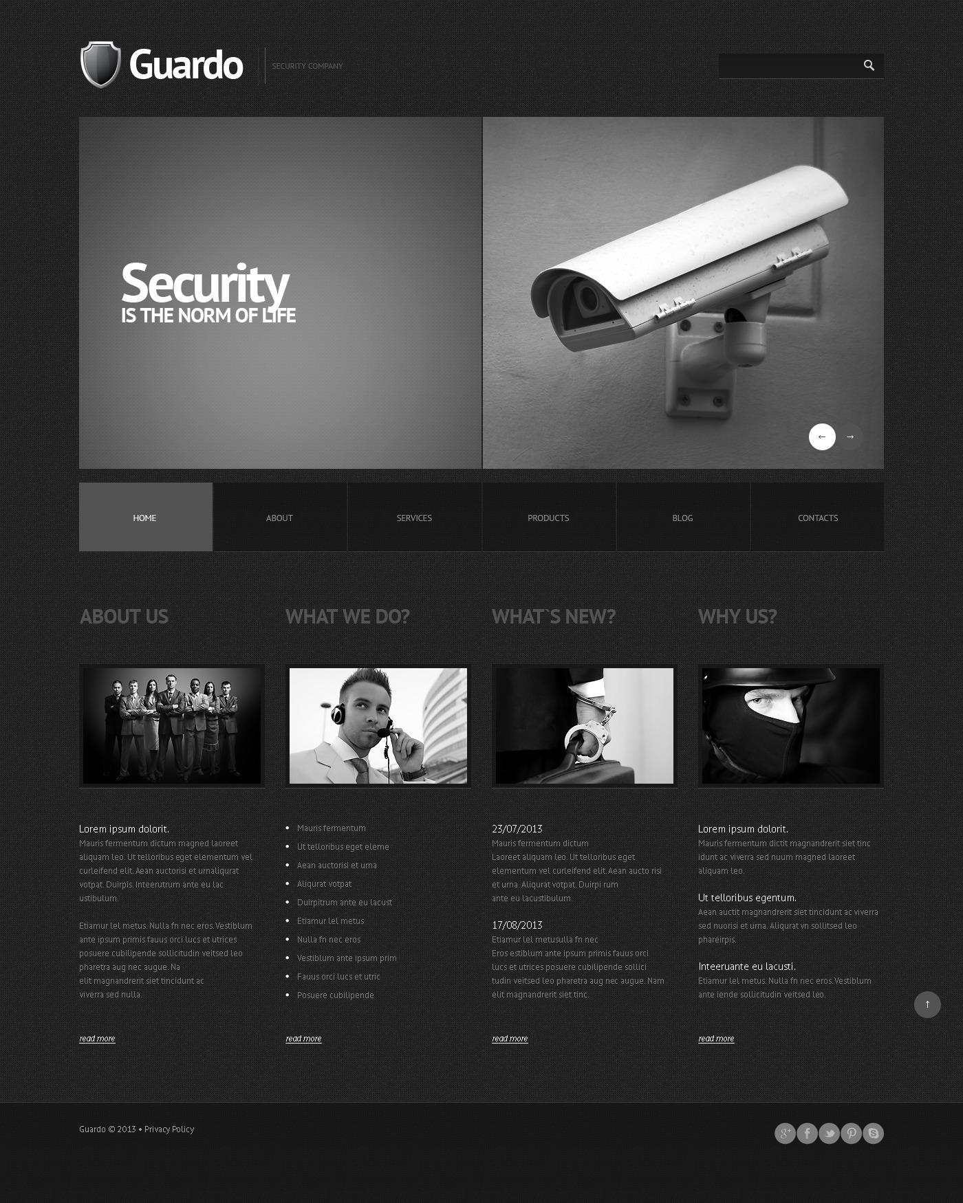Адаптивний WordPress шаблон на тему служби безпеки №45015 - скріншот