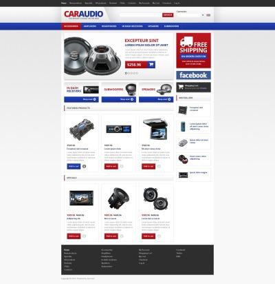 Car Audio ZenCart шаблон