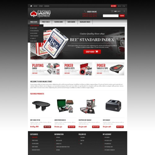 Casino Equipment  - Responsive PrestaShop Template