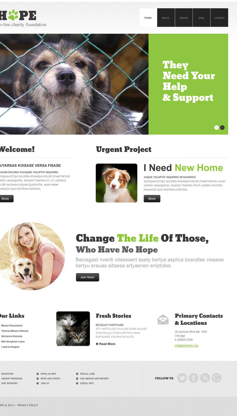 Clear Animal Shelter WordPress Theme New Screenshots BIG