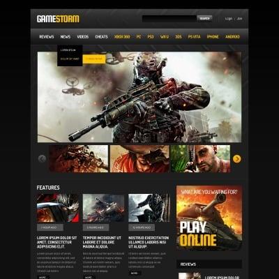 Games Responsive Website Template #45003