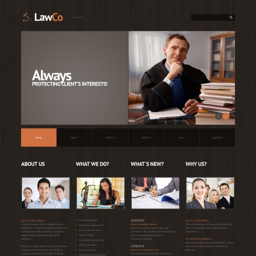Lawco - WordPress Template based on Bootstrap
