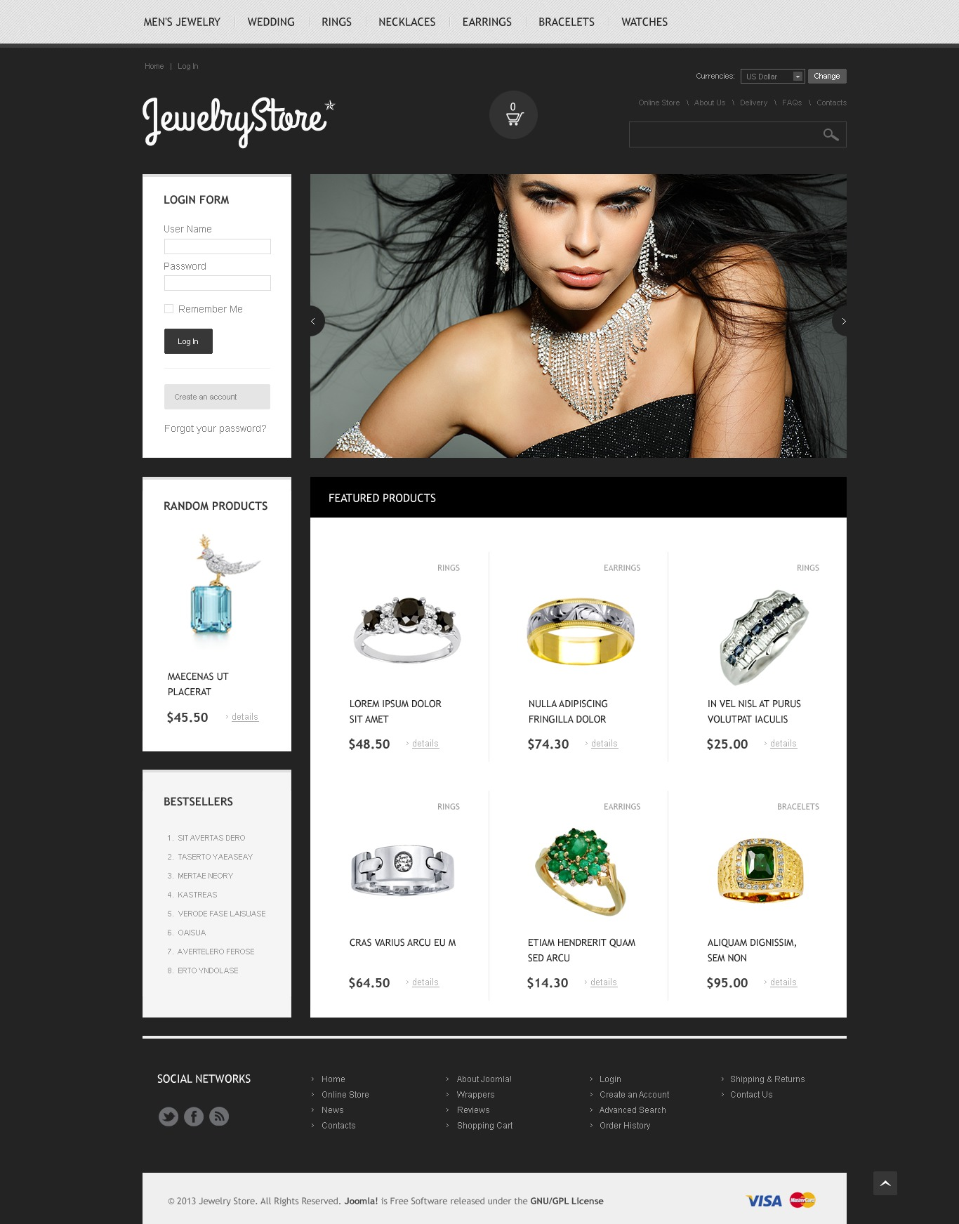 """""""Magasin de bijoux"""" thème VirtueMart  #45054"""