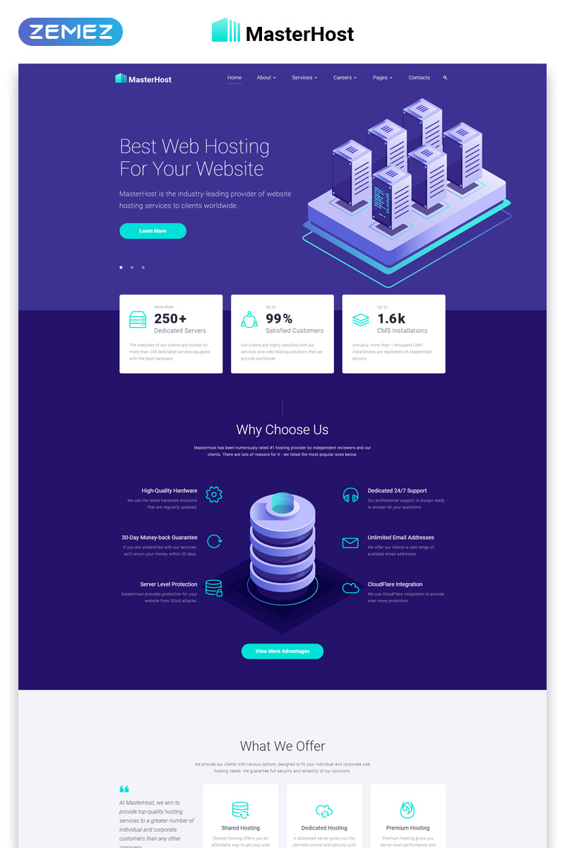 MasterHost - Hosting Multipage Clean HTML Bootstrap Template Web №45042
