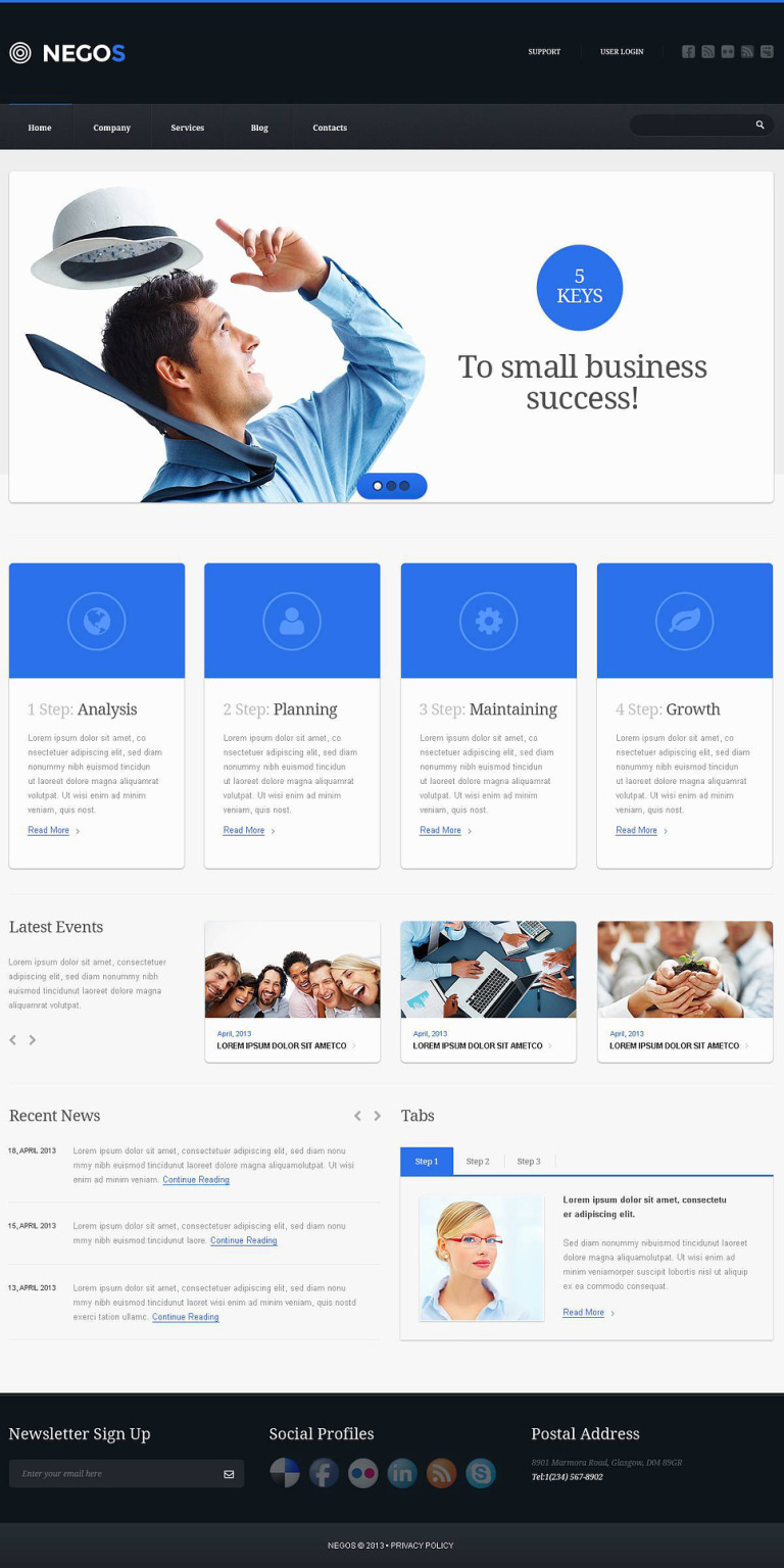Outsourcing Company Responsive Website Template New Screenshots BIG