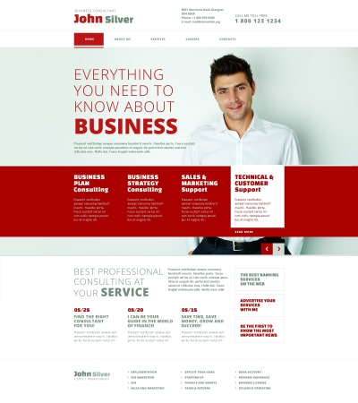 Responsive Plantilla Web #45032 para Sitio de  para Sitio de Consultoría