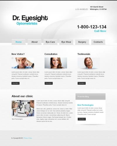 Optometrist's Moto CMS HTML Şablon