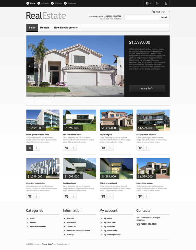 Real Estate Market PrestaShop Theme New Screenshots BIG