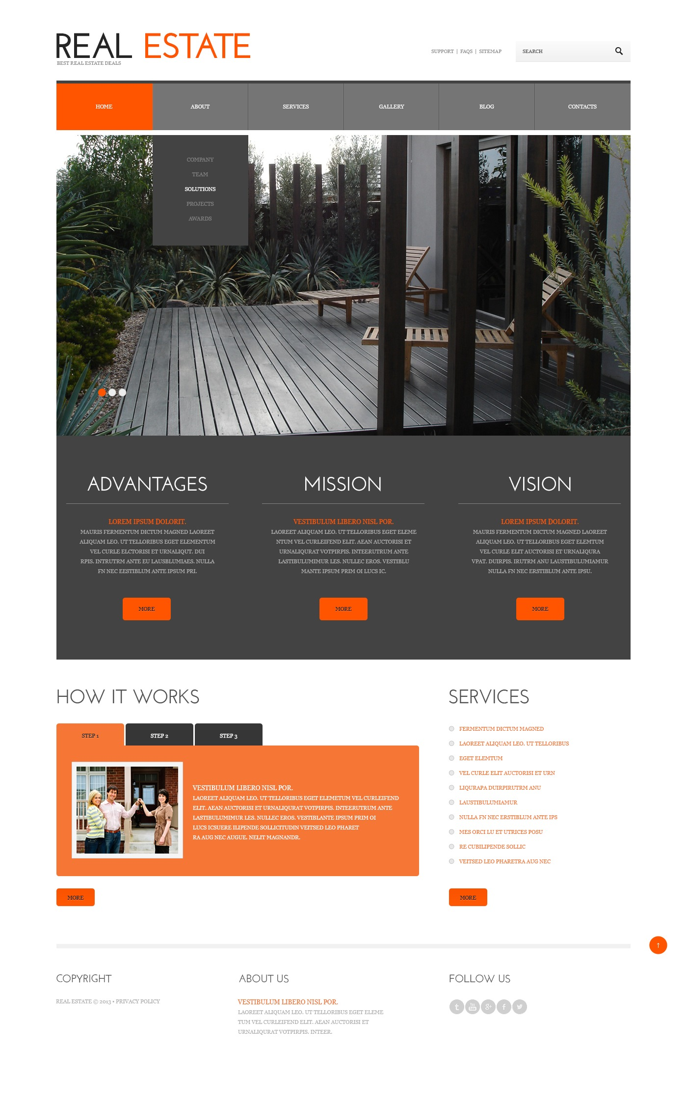 Real Estate Responsive WordPress Theme - screenshot