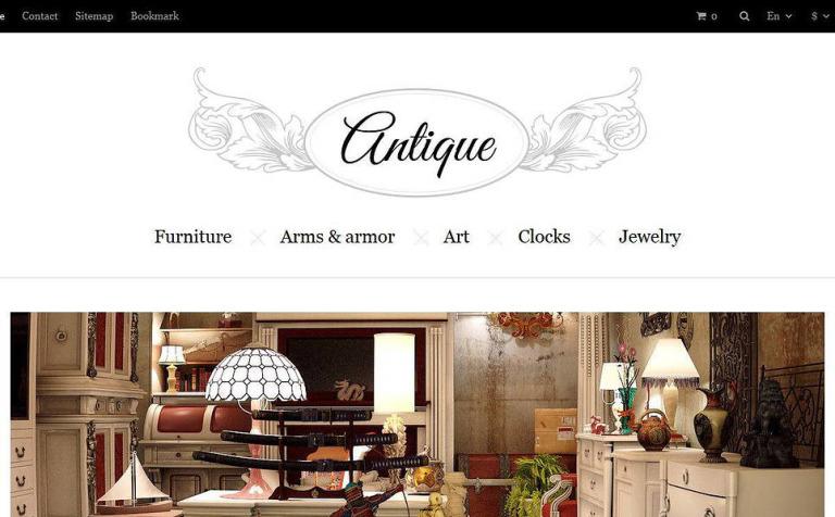 Responsive Antiques Store PrestaShop Theme