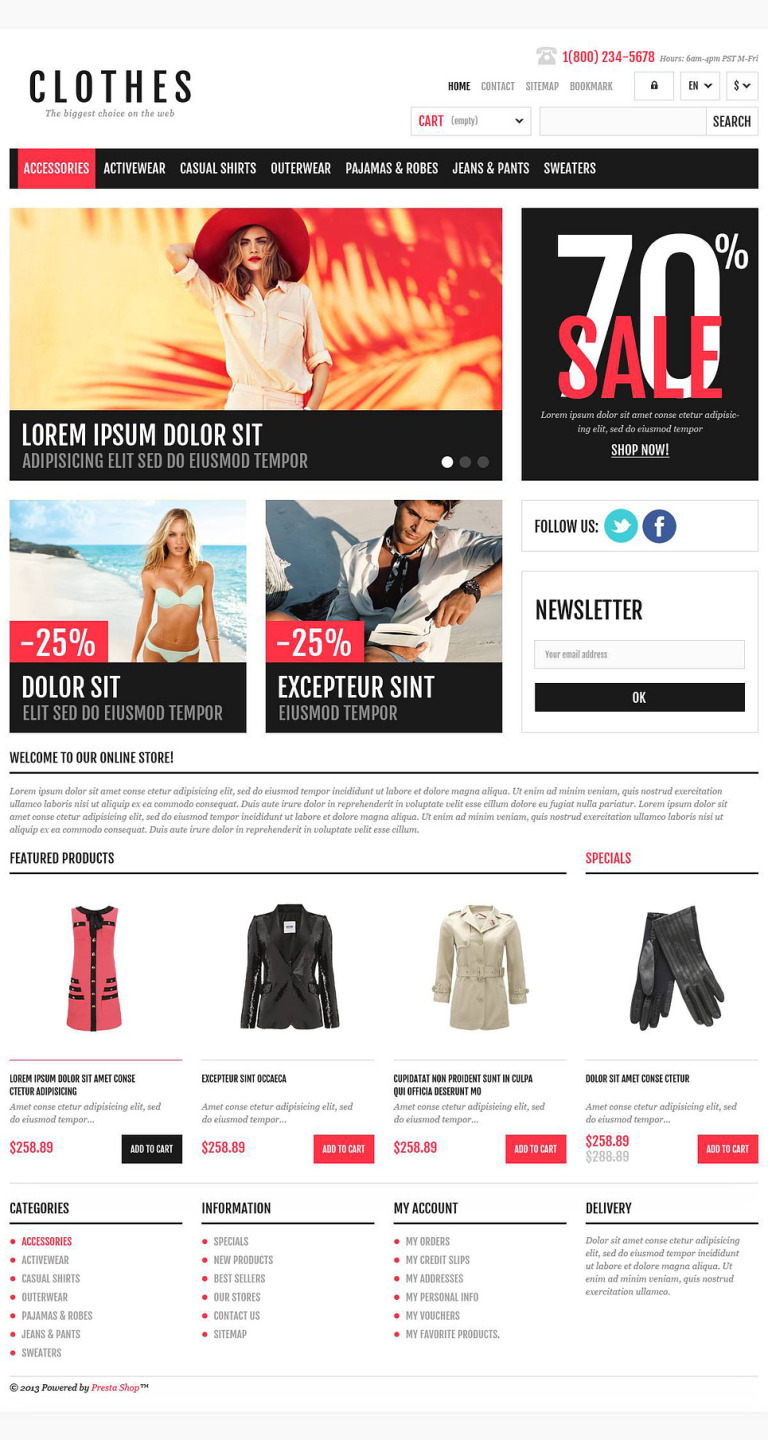 Responsive Clothing Shop PrestaShop Theme New Screenshots BIG