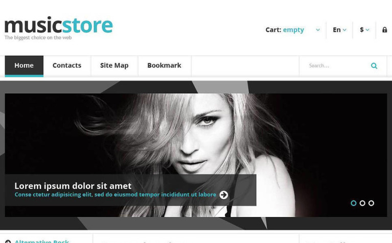 Responsive Music Store PrestaShop Theme