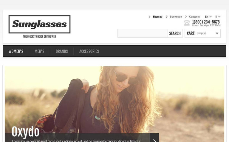 4c681b2c66c Responsive Sunglasses Store PrestaShop Theme New Screenshots BIG