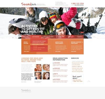 Responsive Website Vorlage für Rehabilitation