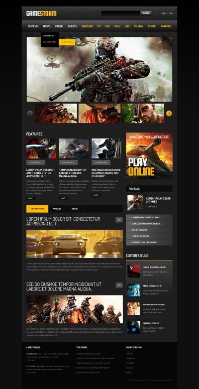 Responsywny szablon strony www #45003 na temat: gry