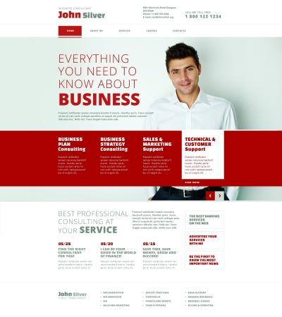 Responsywny szablon strony www #45032 na temat: usługi doradcze