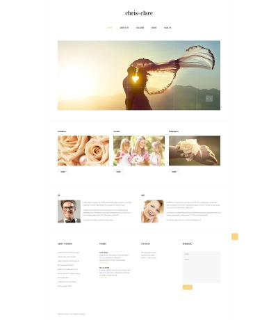 Wedding Album Responsive Weboldal Sablon