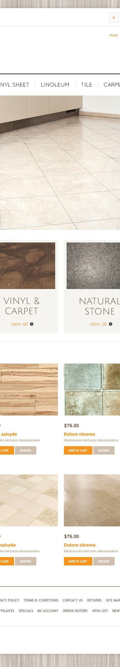 Royal Flooring OpenCart Template