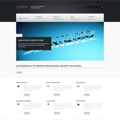 HTML5 Security Templates   TemplateMonster
