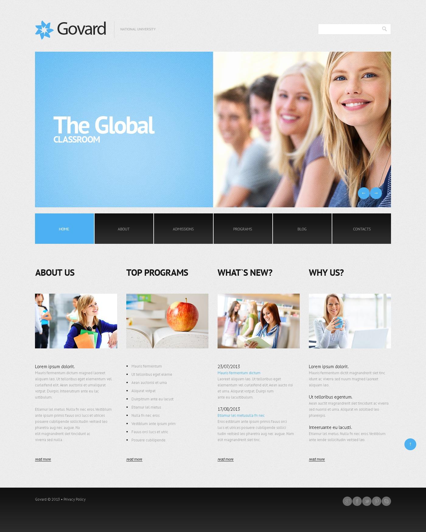 Tema WordPress Flexível para Sites de Universidades №45013 - captura de tela