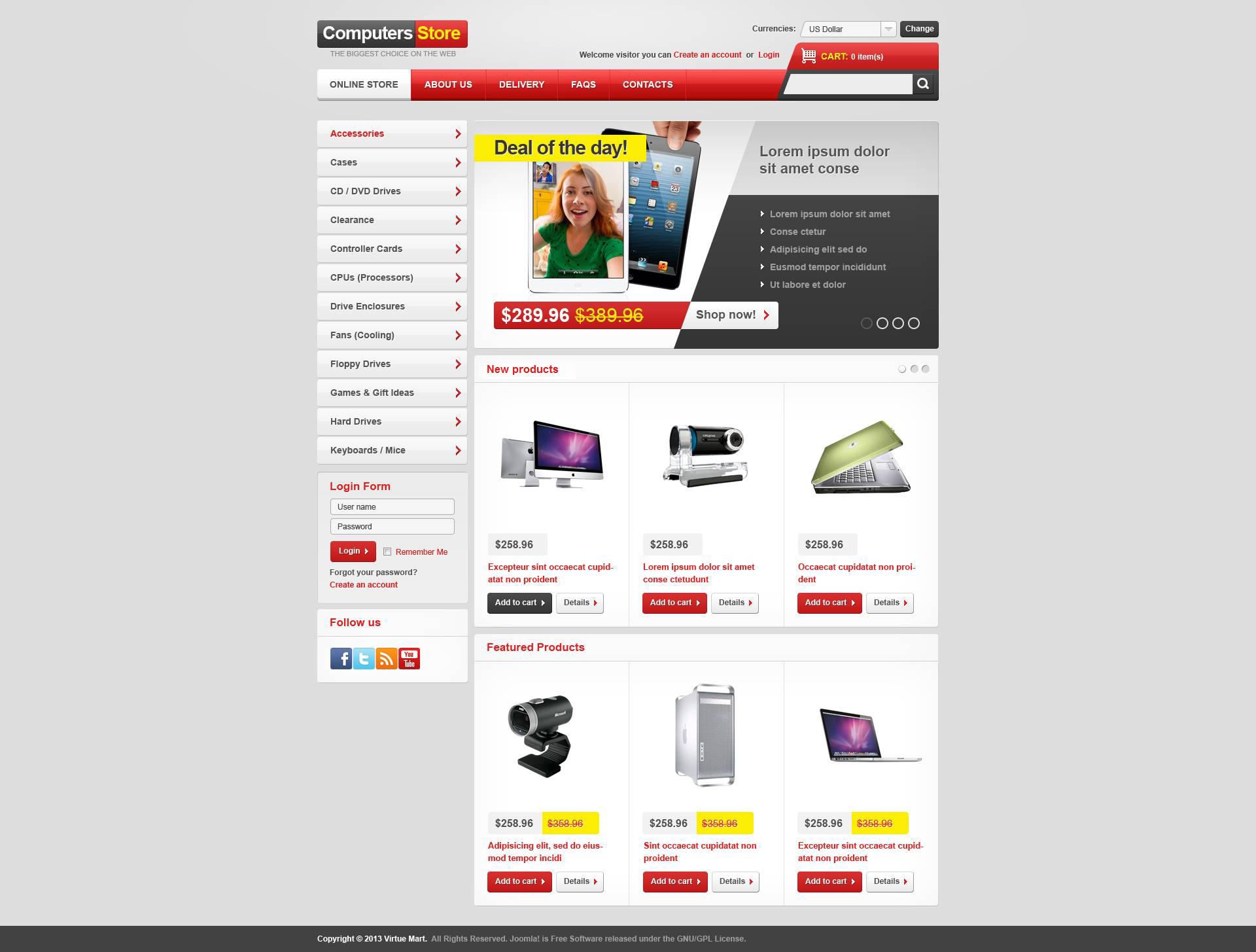 "VirtueMart Vorlage namens ""Complete Computers Store"" #45083"