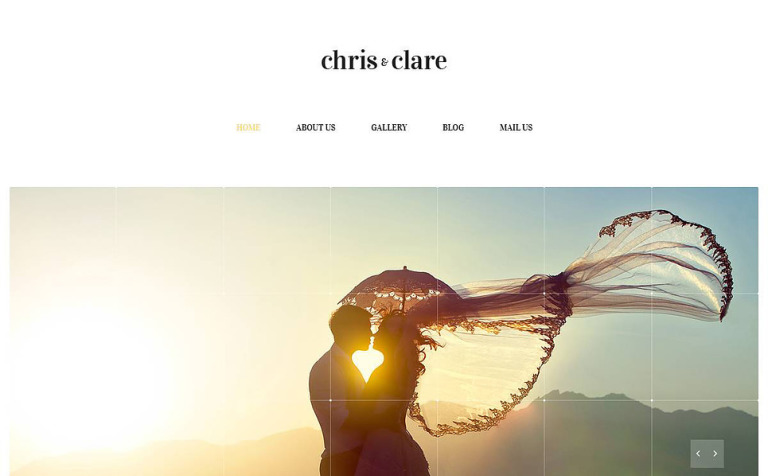 Wedding Album Responsive Website Template
