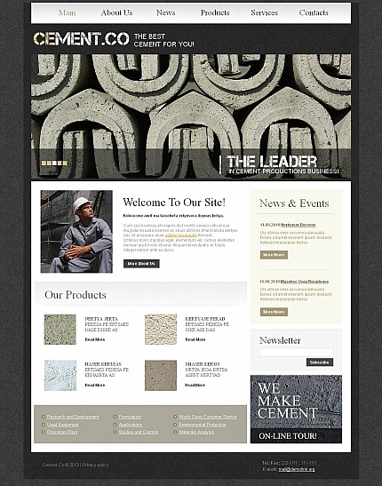 ADOBE Photoshop Template 45102 Home Page Screenshot