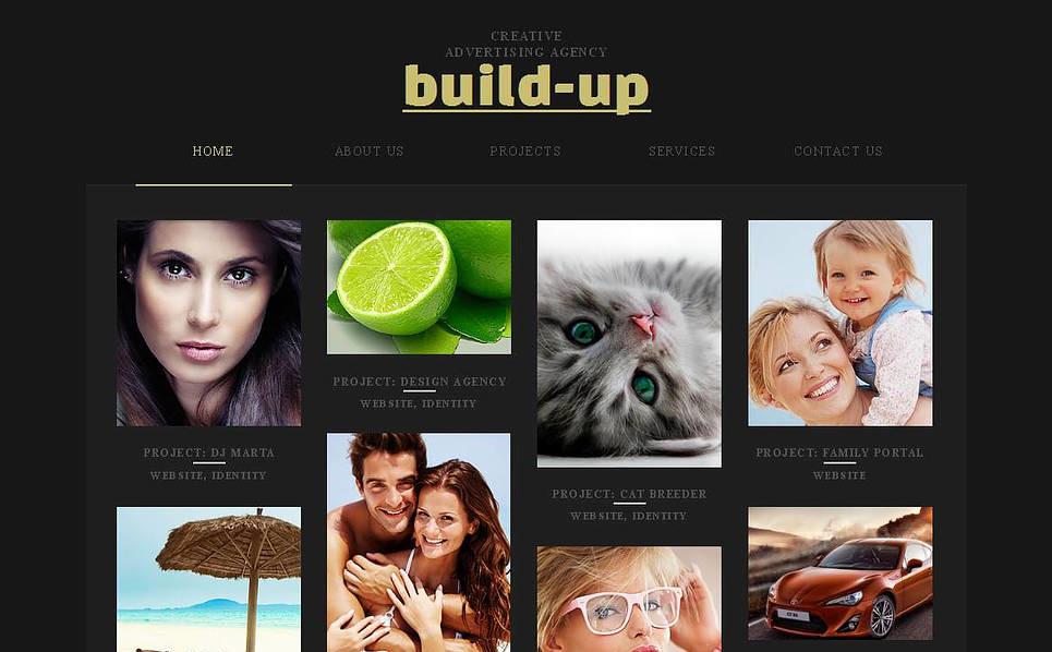 Szablon Moto CMS HTML #45104 na temat: agencja reklamowa New Screenshots BIG