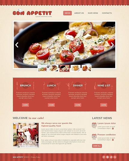 ADOBE Photoshop Template 45106 Home Page Screenshot