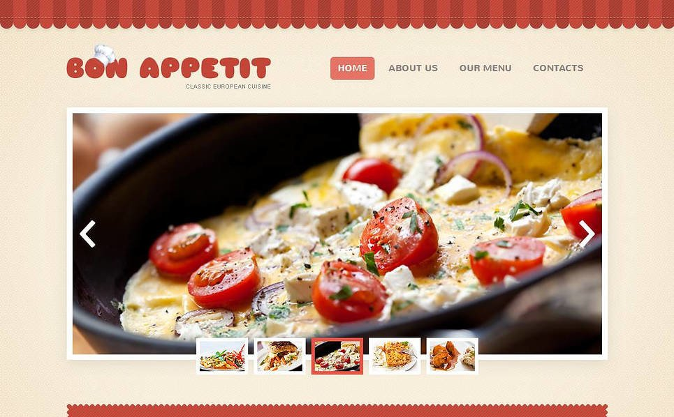 Template Moto CMS HTML  #45106 per Un Sito di Ristorante Europeo New Screenshots BIG