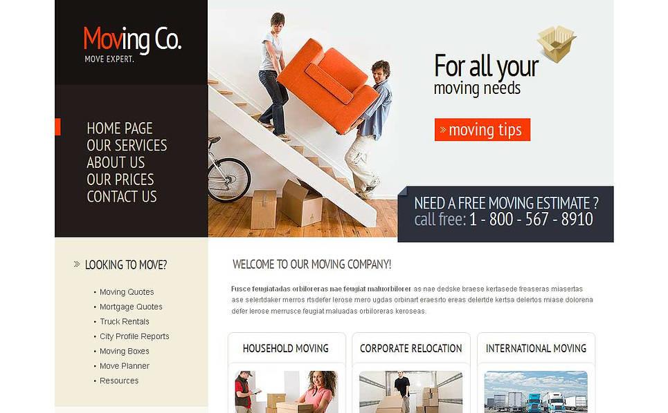 Szablon Moto CMS HTML #45107 na temat: firma przeprowadzkowa New Screenshots BIG