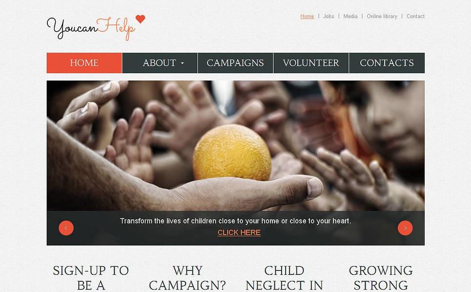 Szablon Moto CMS HTML #45108 na temat: dobroczynność New Screenshots BIG