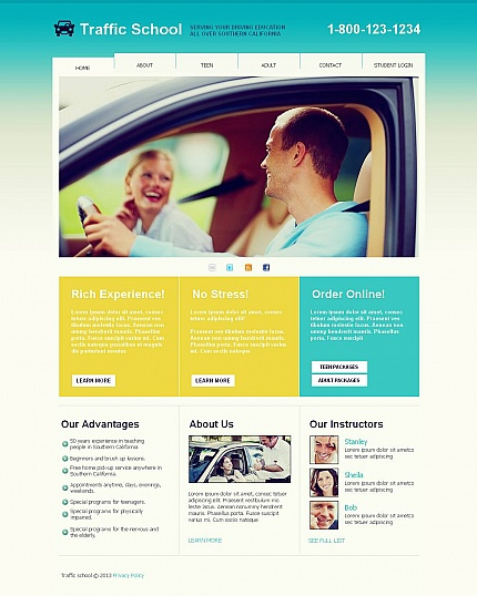 ADOBE Photoshop Template 45111 Home Page Screenshot