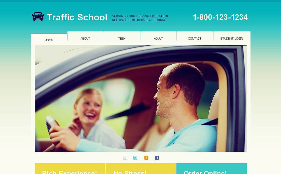 Premium Moto CMS HTML Template over Verkeersschool New Screenshots BIG
