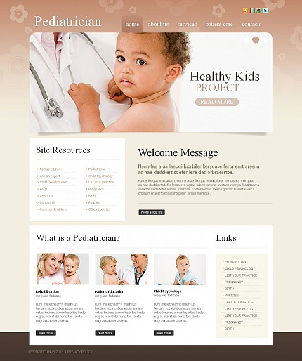 ADOBE Photoshop Template 45114 Home Page Screenshot
