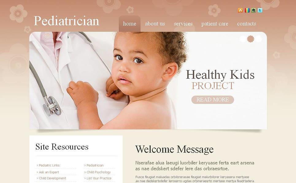 MotoCMS HTML шаблон на тему педіатрія New Screenshots BIG