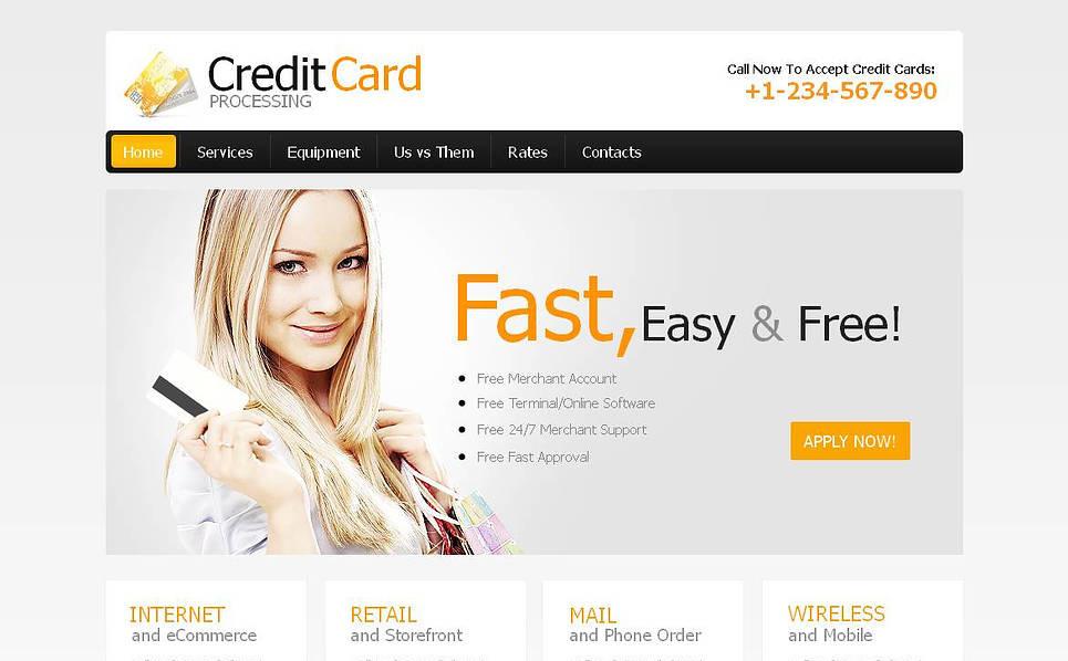 Szablon Moto CMS HTML #45116 na temat: usługi bankowe New Screenshots BIG