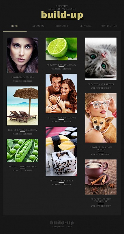 ADOBE Photoshop Template 45117 Home Page Screenshot