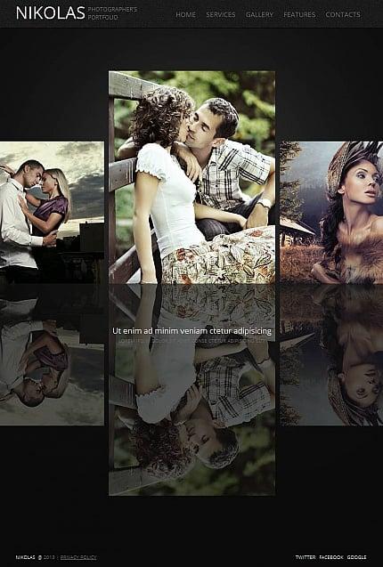 ADOBE Photoshop Template 45118 Home Page Screenshot